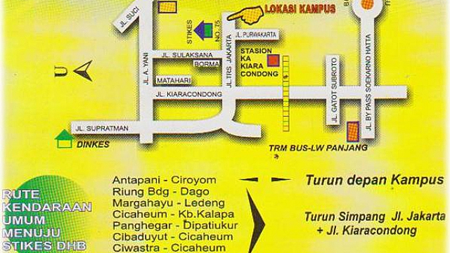 Lokasi Kampus STIKes Dharma Husada Bandung